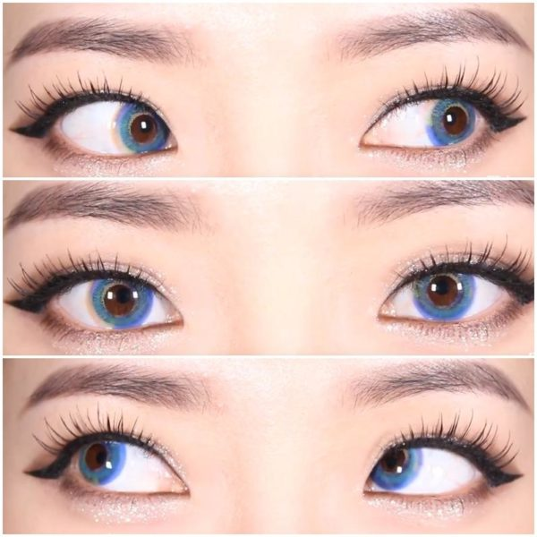 Lentilles De Couleur Dueba Luna Prism Mercuy Bleu Lentille Contact Bleue