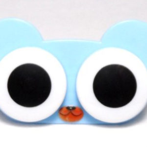 Etui Lentilles de Contact Animal Zoo Big eyes Blue Bear