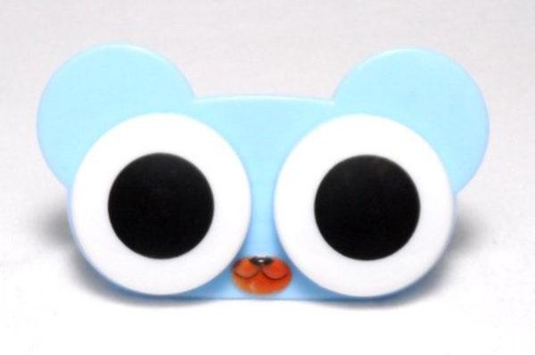 Etui Lentilles de Contact Animal Zoo Big eyes Blue Bear