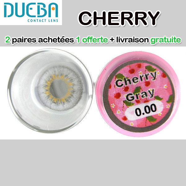 DUEBA CHERRY GRIS LENTILLE CONTACT GRISE