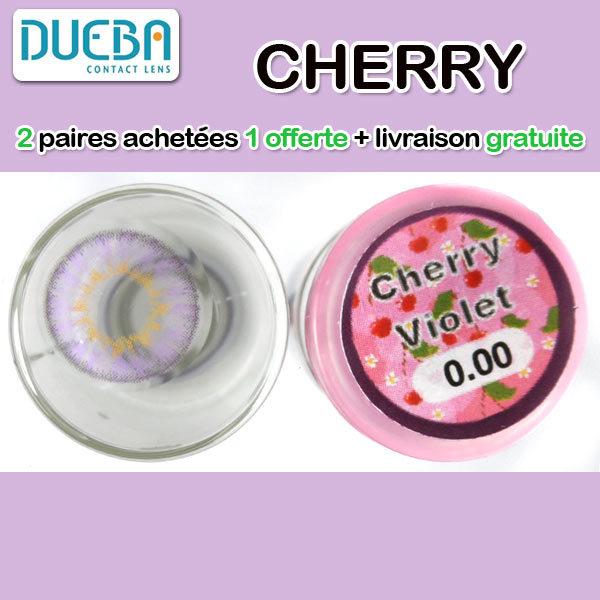 DUEBA CHERRY MAUVE LENTILLE CONTACT MAUVE