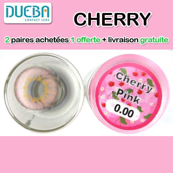 DUEBA CHERRY ROSE LENTILLE CONTACT ROSE