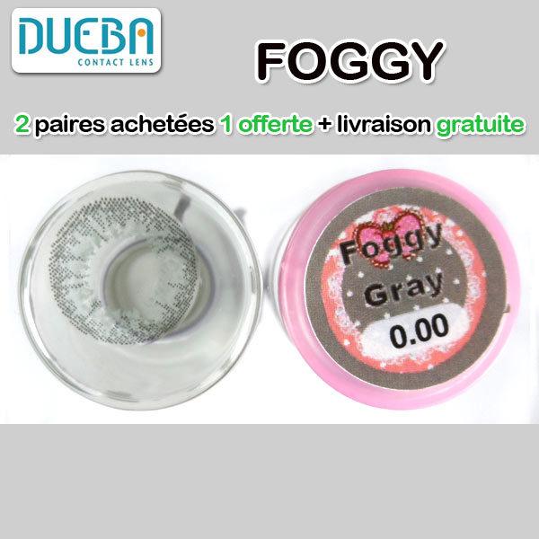 DUEBA FOGGY GRIS LENTILLE CONTACT GRISE