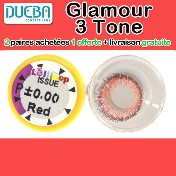 DUEBA GLAMOUR ROUGE LENTILLE CONTACT ROUGE