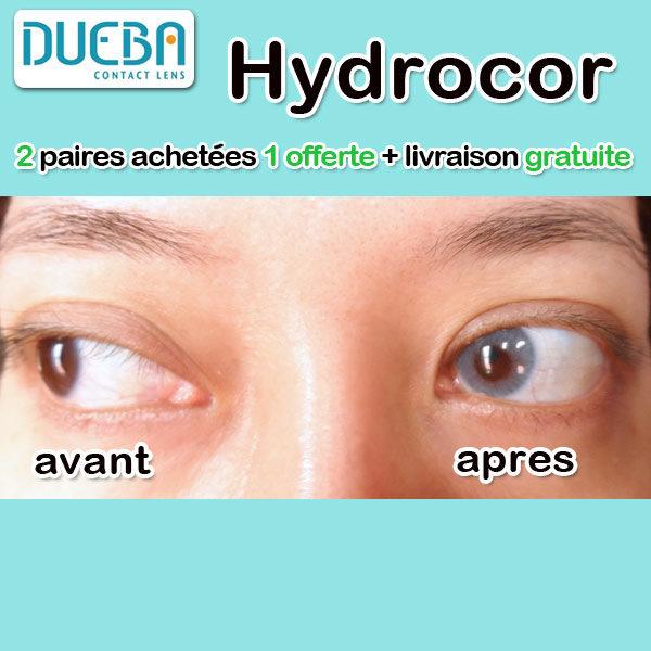 DUEBA HIDROCOR CRYSTAL BLEU LENTILLE CONTACT BLEUE