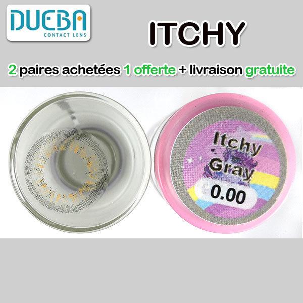 DUEBA ITCHY GRIS LENTILLE CONTACT GRISE