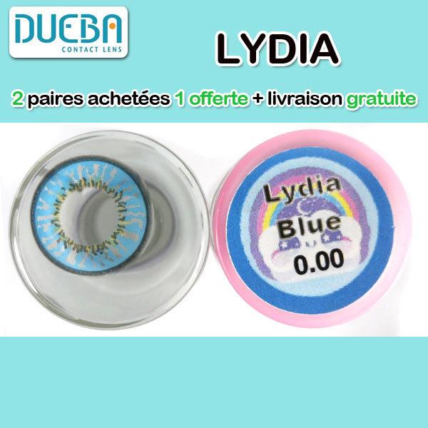 DUEBA LYDIA BLEU LENTILLE CONTACT BLEUE
