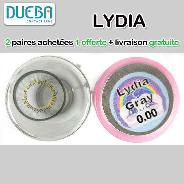 DUEBA LYDIA GRIS LENTILLE CONTACT GRISE