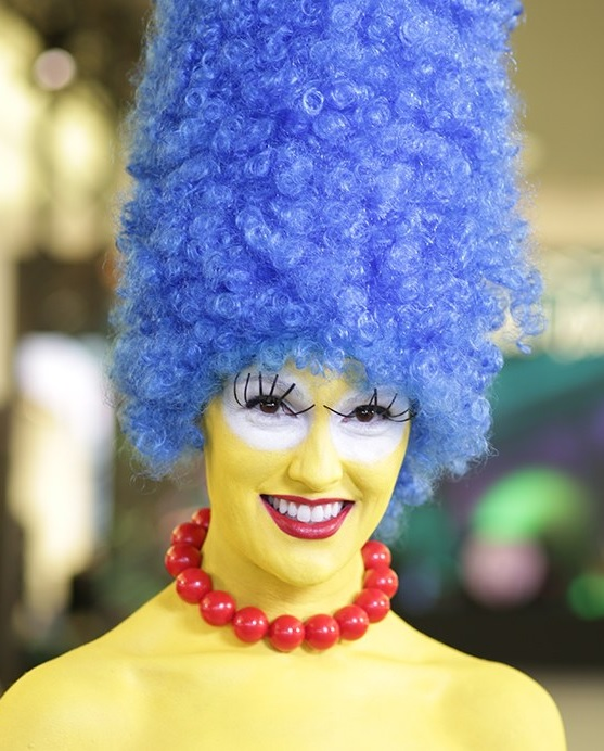 faire maquillage d guisement halloween marge simpson. Black Bedroom Furniture Sets. Home Design Ideas