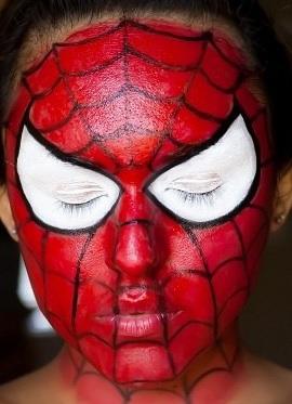 maquillage spiderman modele. Black Bedroom Furniture Sets. Home Design Ideas