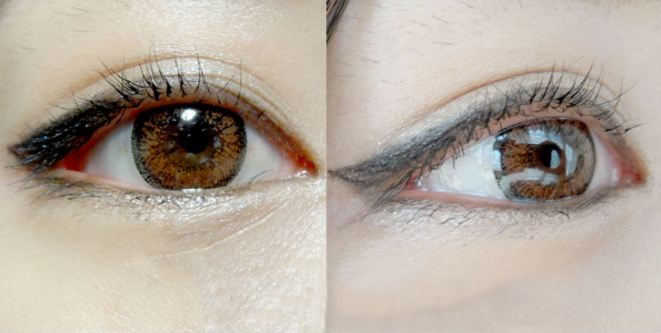 Geo color nine noisette an a46 lentille contact marron solution - Yeux couleur noisette ...