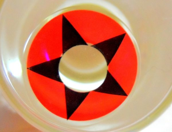 GEO SF-27 CRAZY LENS  ETOILE NOIRE LENTILLE DEGUISEMENT HALLOWEEN