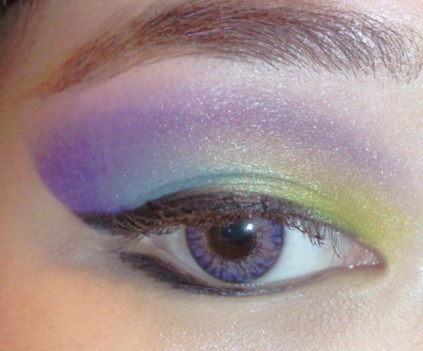 GEO TRI COLOR VIOLET CM-905 LENTILLE CONTACT MAUVE