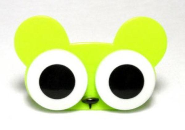 Etui Lentilles de Contact Animal Zoo Big eyes Green Mouse