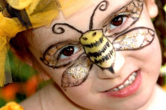 faire un maquillage abeille facile pour halloween. Black Bedroom Furniture Sets. Home Design Ideas