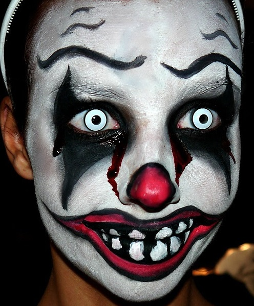 maquillage de clown qui fait peur pour halloween facile. Black Bedroom Furniture Sets. Home Design Ideas
