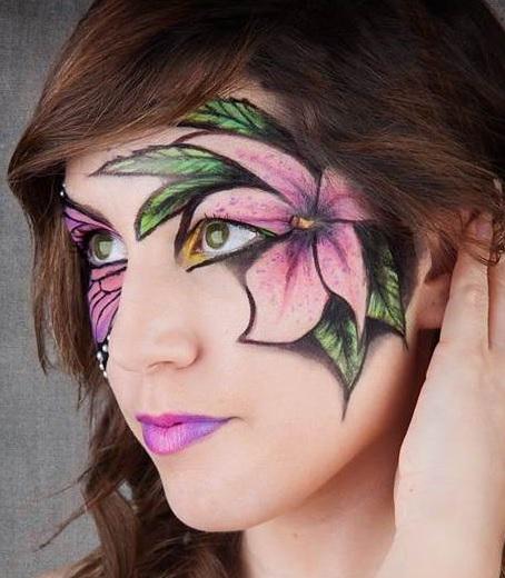 Maquillage De Fleurs Sur Le Visage Pour Halloween Solution