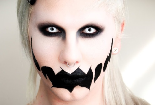 great maquillage lentilles cosplay qui font peur halloween with maquillage  halloween facile qui fait peur