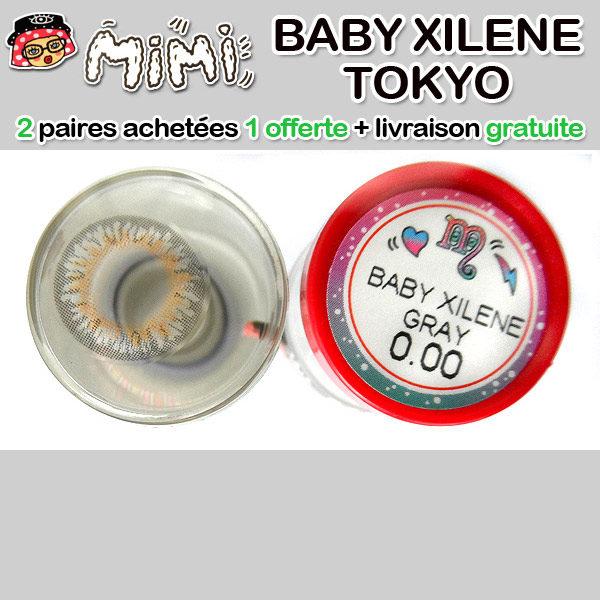 MIMI BABY XILENE GRIS LENTILLE CONTACT GRISE