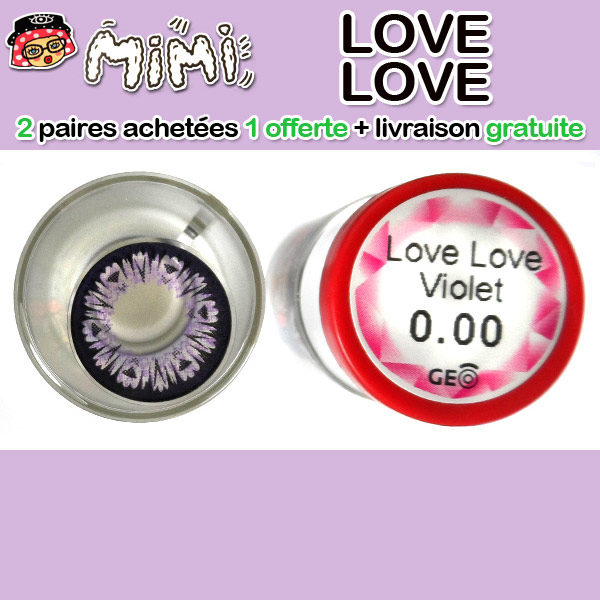 MIMI LOVE LOVE MAUVE LENTILLE CONTACT MAUVE