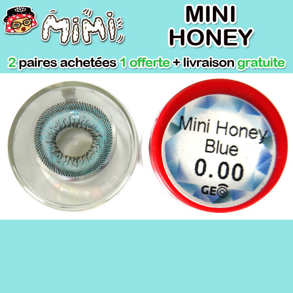 MIMI HONEY BLEU LENTILLE CONTACT BLEUE