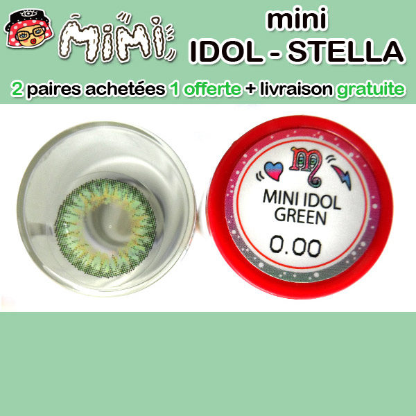 MIMI IDOL, LENTILLE CONTACT VERTE