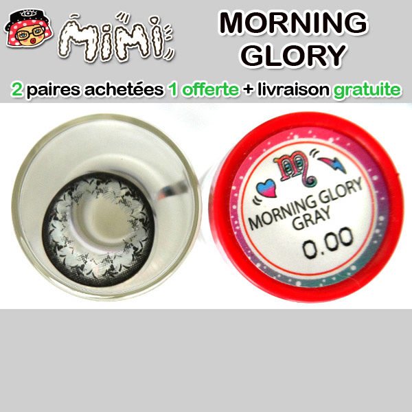 MIMI MORNING GLORY GRIS LENTILLE CONTACT GRISE