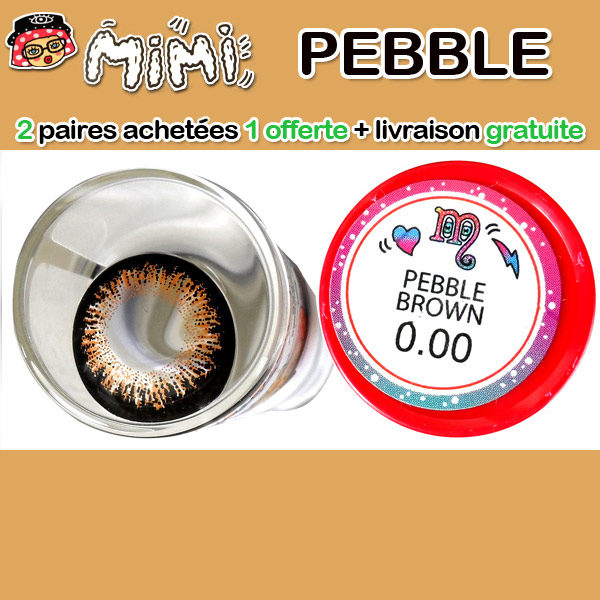 MIMI PEBBLE MARRON LENTILLE CONTACT MARRON