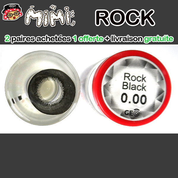 MIMI ROCK NOIR LENTILLE CONTACT NOIRE