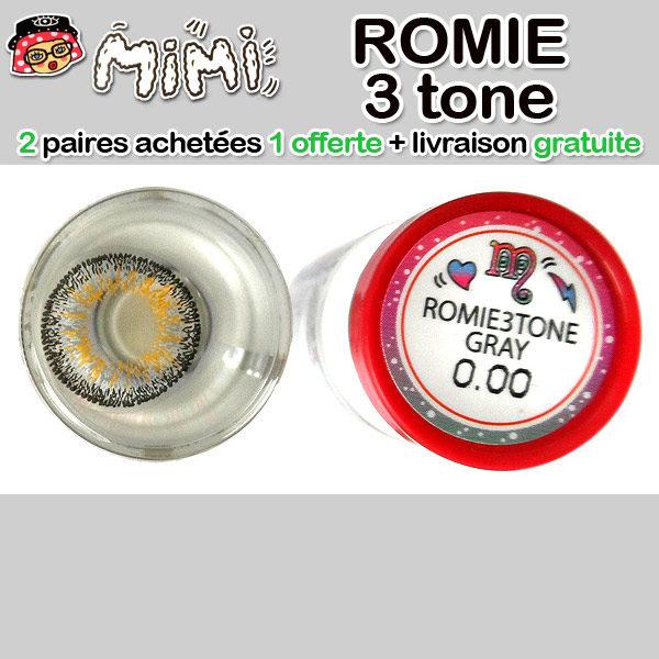 MIMI ROMIE 3 TONS GRIS LENTILLE CONTACT GRISE