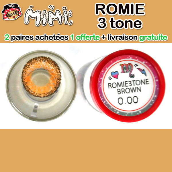 MIMI ROMIE 3 TONS MARRON LENTILLE CONTACT MARRON