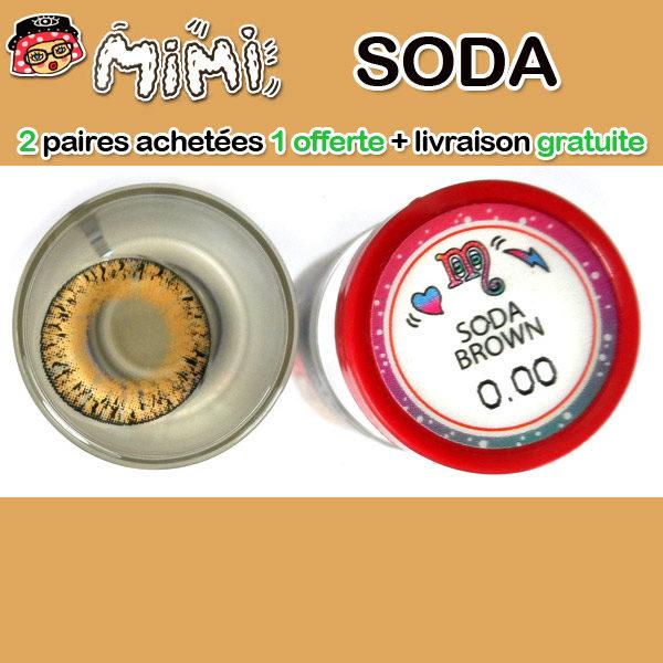 MIMI SODA MARRON LENTILLE CONTACT MARRON