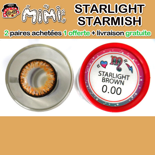 MIMI STARLIGHT MARRON LENTILLE CONTACT MARRON