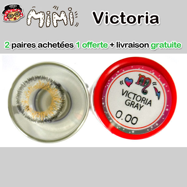 MIMI VICTORIA GRIS LENTILLE CONTACT GRISE