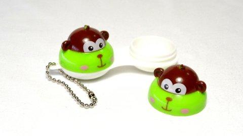 Etui Lentilles de Contact Porte-Cle Mio Friends Nano Monkey