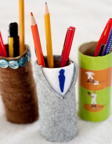 cadeaux f te des p res faire pot crayons et dessous de verre solution. Black Bedroom Furniture Sets. Home Design Ideas