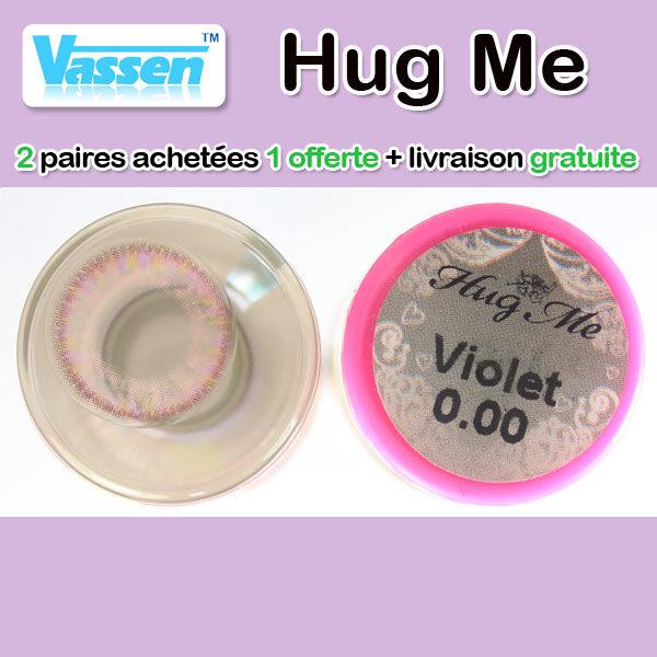 VASSEN HUG ME VIOLET LENTILLE CONTACT MAUVE