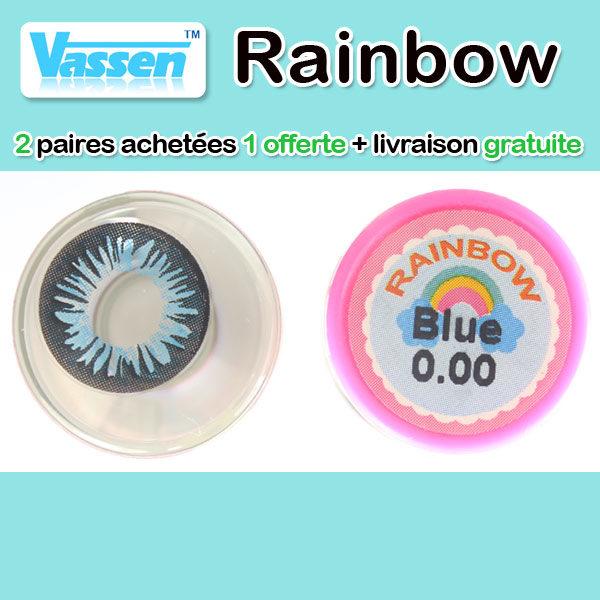 VASSEN RAINBOW BLEU LENTILLE CONTACT BLEUE