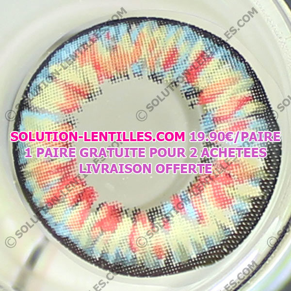 VASSEN RICHY ROUGE LENTILLE CONTACT ROUGE