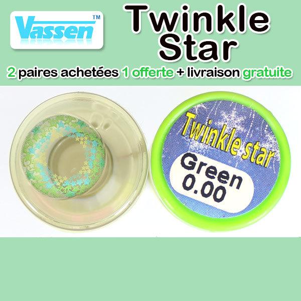 VASSEN TWINKLE STAR VERT LENTILLE CONTACT VERTE
