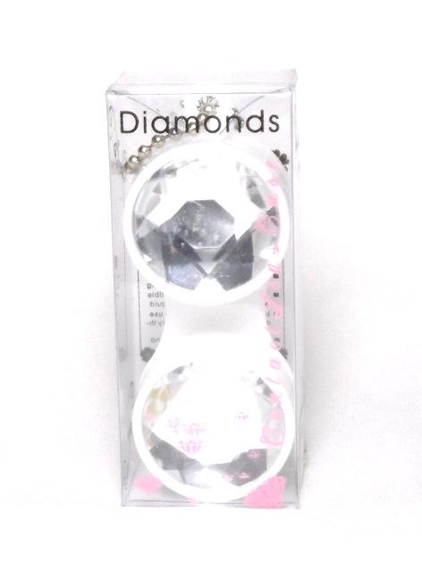 Etui Lentilles de Contact Porte-Cle Diamant Blanc